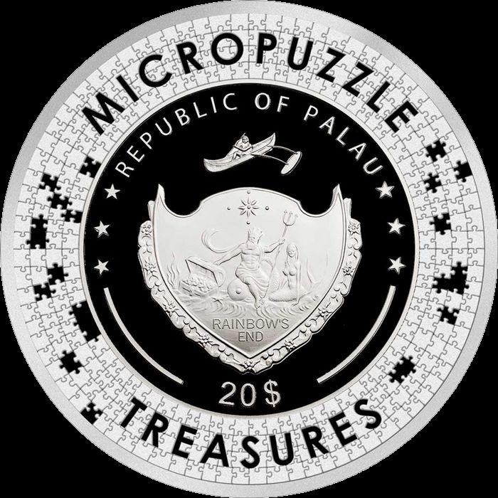 Палау монета 20 долларов Мечтательность, аверс