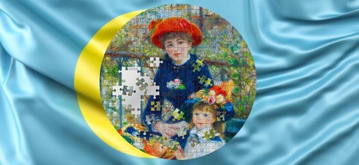 Палау монета 20 долларов Две Сестры