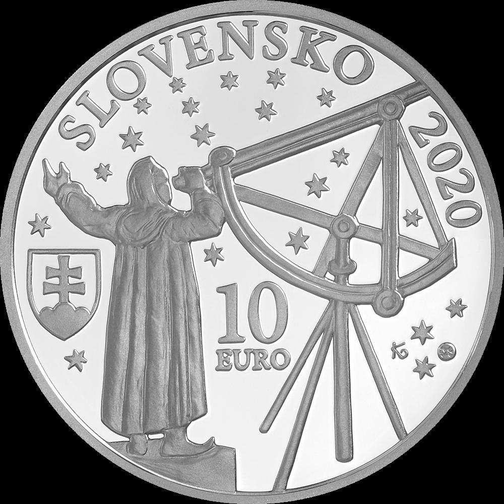 Словакия монета 10 евро Максимилиан Хелл, аверс