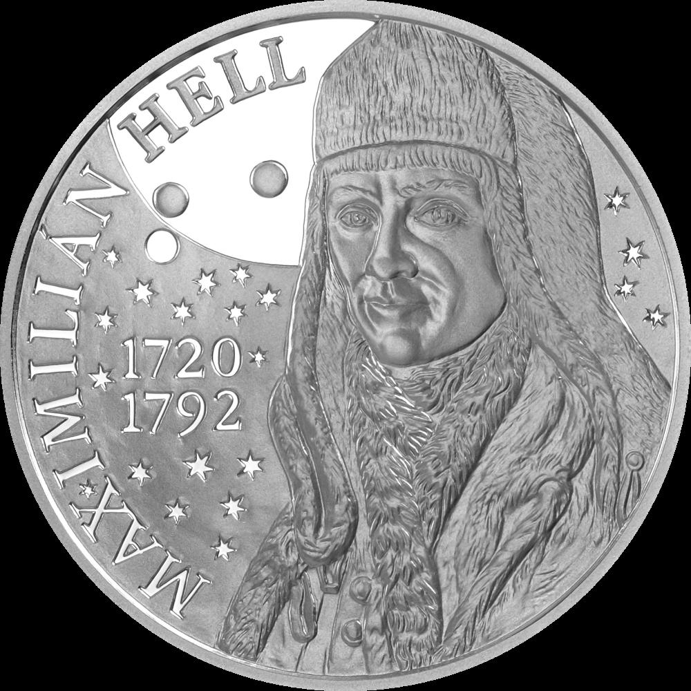 Словакия монета 10 евро Максимилиан Хелл, реверс
