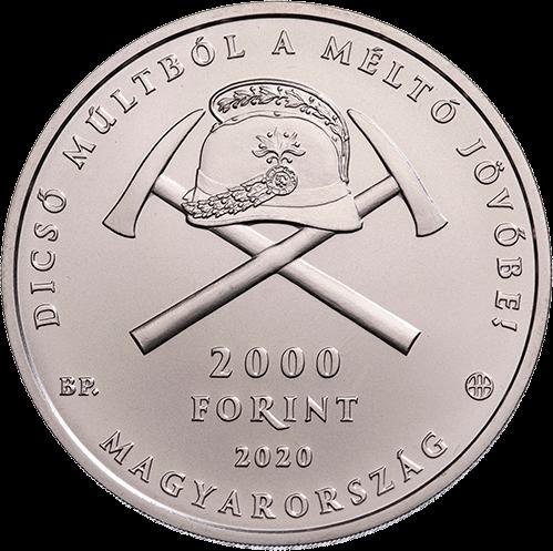 Венгрия монета 2000 форинтов 150-летию организованных пожарных служб в Венгрии, аверс
