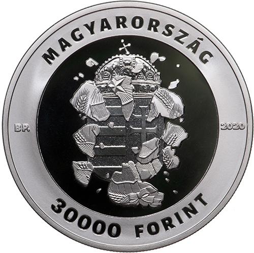 Венгрия монета 30000 форинтов 30 лет свободы, аверс