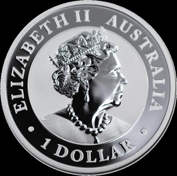Австралия монета 1 доллар, аверс 2020 год