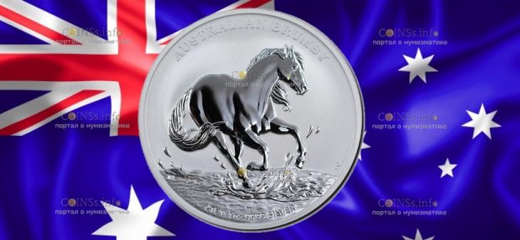 Австралия монета 1 доллар Австралийские Брамби