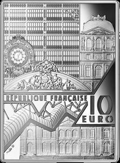 Франция монета 10 евро Автопортрет Ван Гога, аверс