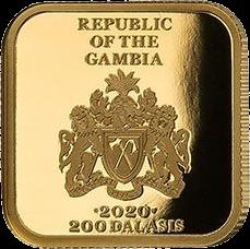 Гамбия выпускают монету 200 даласи Камасутра, аверс