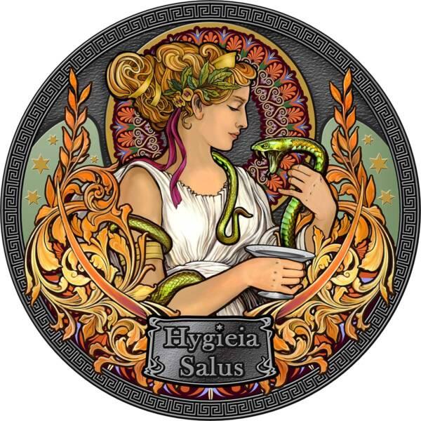 Гана монета 5 седи Богиня Гигиея, реверс
