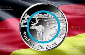 Германия монета 5 евро Приполярная зона