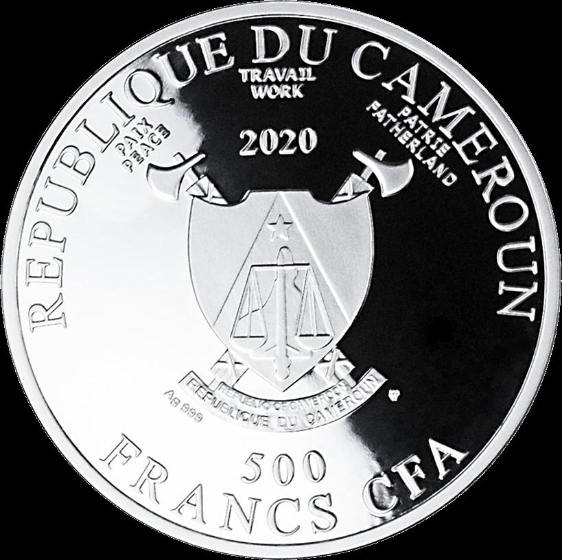 Камерун монета 500 франков КФА 2020 год, аверс