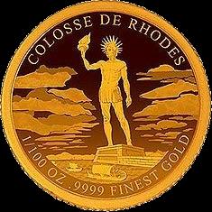 Кот-д'Ивуар монета 100 франков КФА Колосс Родосский, реверс