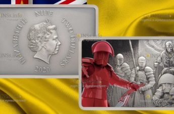 Ниуэ монета 2 доллара Преторианская гвардия Империи