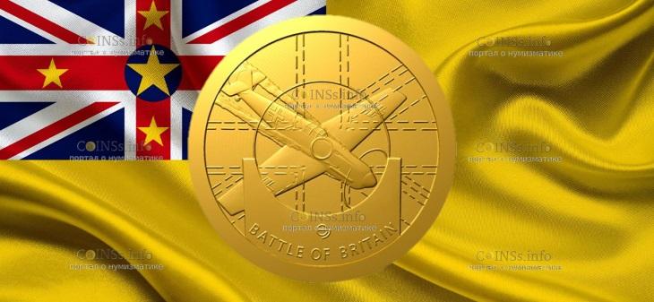 Ниуэ монета 5 долларов Битва за Британию