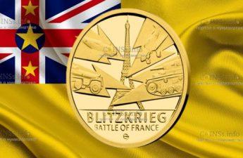 Ниуэ монета 5 долларов Битва за Францию