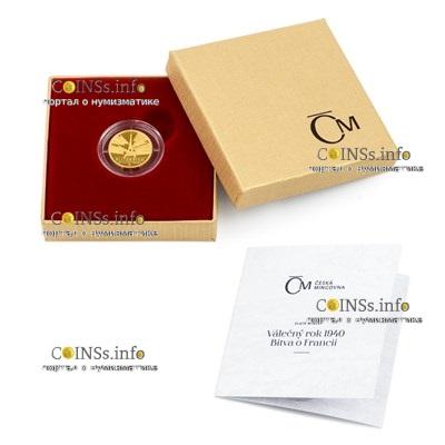 Ниуэ монета 5 долларов Битва за Францию, подарочная упаковка