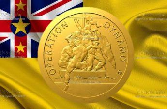 Ниуэ монета 5 долларов Эвакуация из Дюнкерка