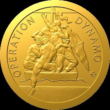 Ниуэ монета 5 долларов Эвакуация из Дюнкерка, реверс