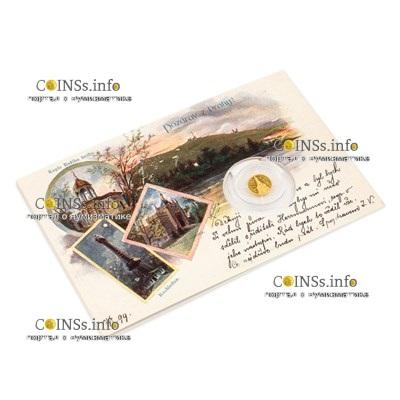 Ниуэ монета 5 долларов Петршинская башня, подарочная упаковка