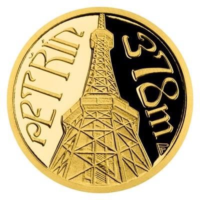 Ниуэ монета 5 долларов Петршинская башня, реверс