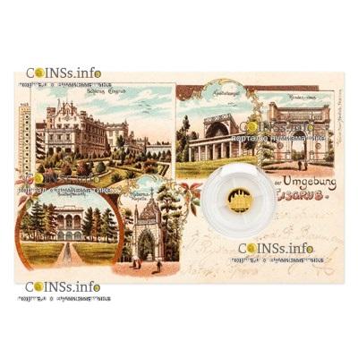 Ниуэ монета 5 долларов Замок Леднице, подарочная упаковка