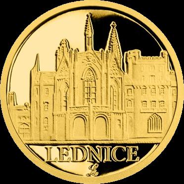 Ниуэ монета 5 долларов Замок Леднице, реверс