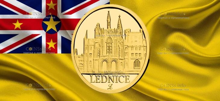 Ниуэ монета 5 долларов Замок Леднице