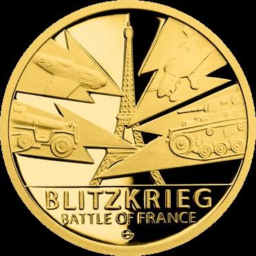 Ниуэ монету 5 долларов Битва за Францию, аверс