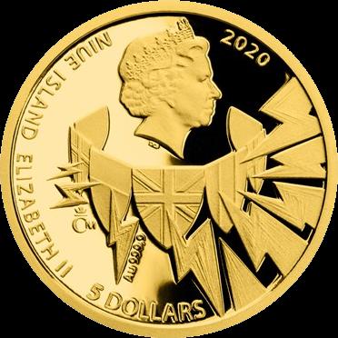 Ниуэ монету 5 долларов в серии Война 1940 год, реверс