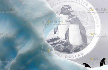 Новая Зеландия выпускает монету 1 доллар Чатемский пингвин