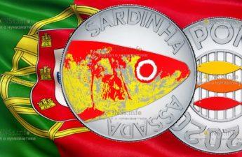 Португалия монета 10 евро Сардины