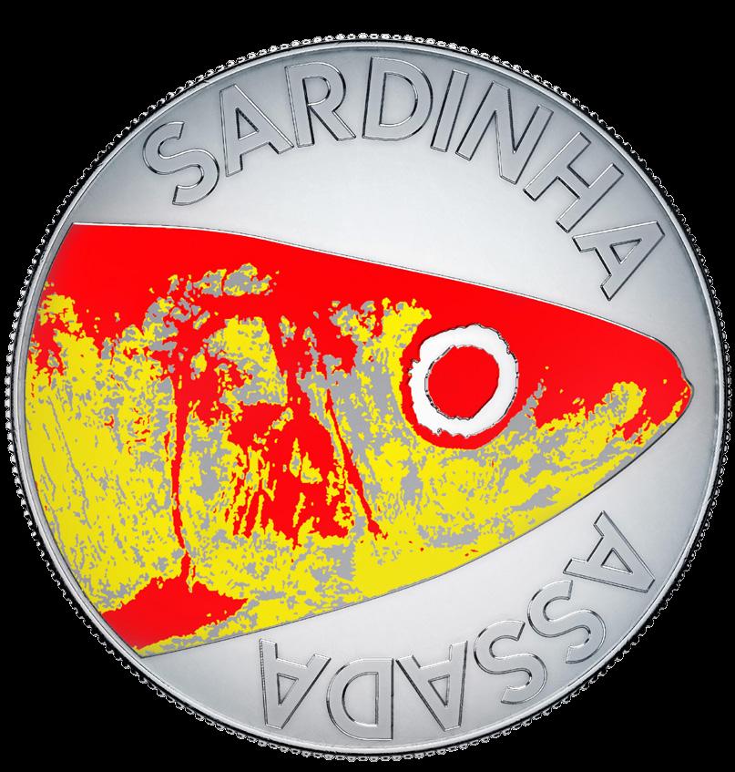 Португалия монета 10 евро Сардины, реверс