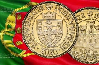 Португалия монета 15 евро Половина Эскудо из Сеуты