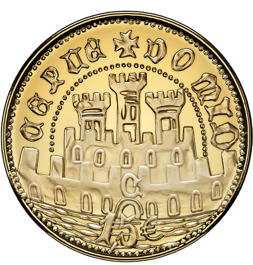 Португалия монета 15 евро Половина Эскудо из Сеуты, реверс