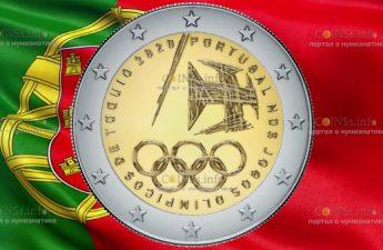 Португалия монета 2 евро Олимпийские игры в Токио