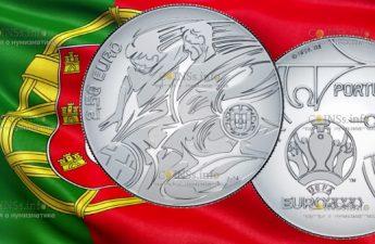 Португалия монета 2.5 евро ЕВРО-2020
