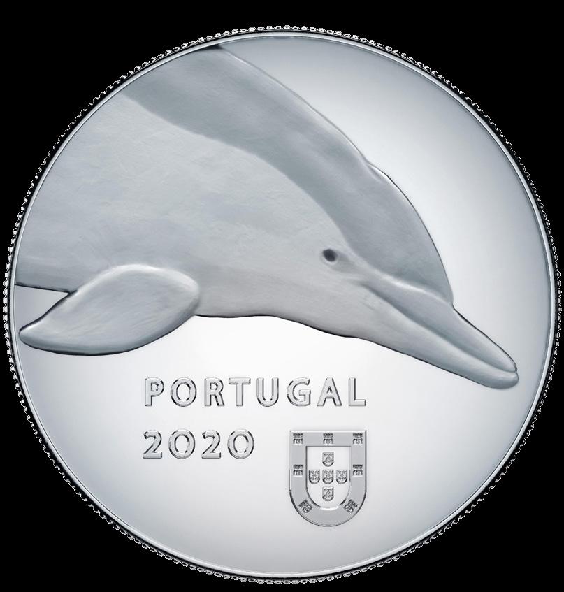 Португалия монета 5 евро Дельфин, аверс