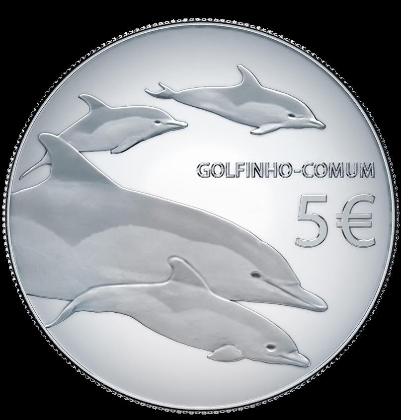 Португалия монета 5 евро Дельфин, реверс