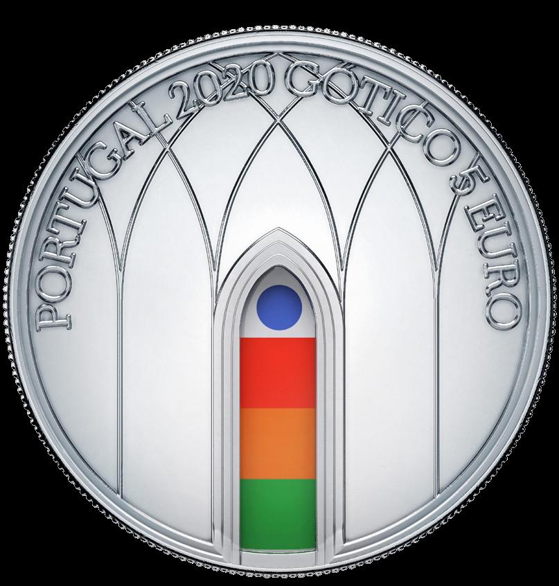 Португалия монета 5 евро Готика, аверс
