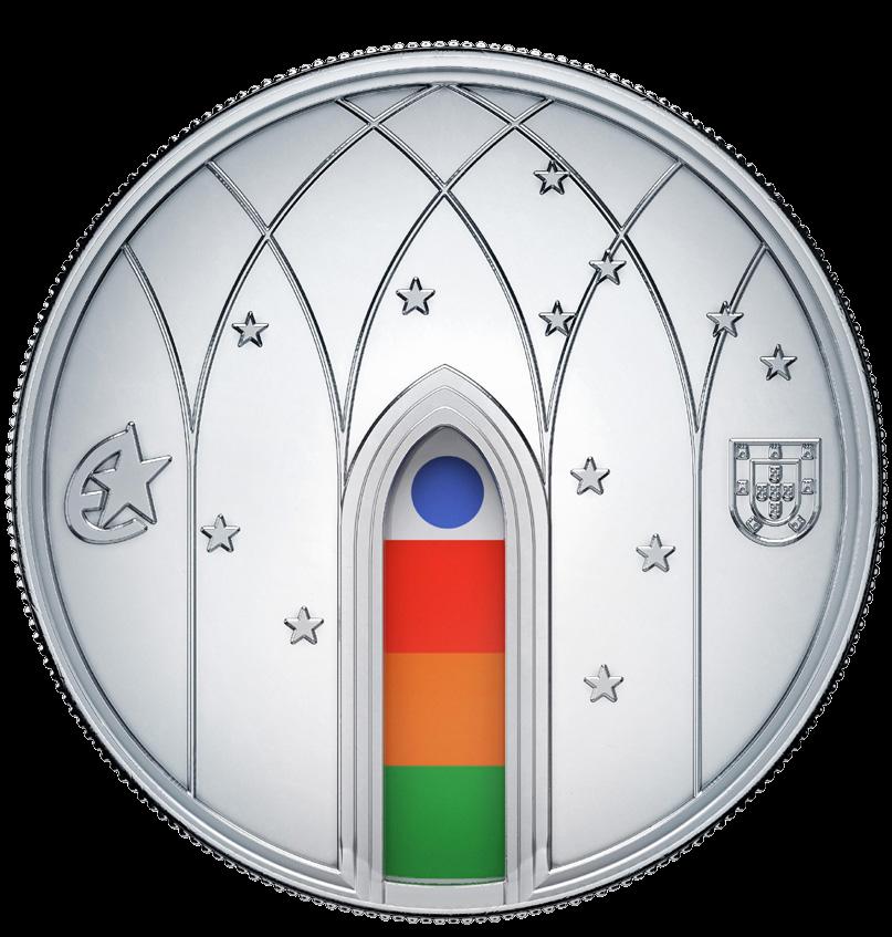 Португалия монета 5 евро Готика, реверс