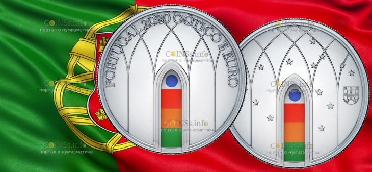 Португалия монета 5 евро Готика