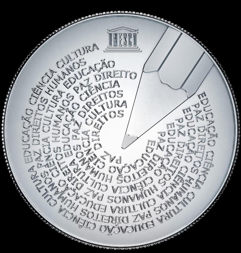 Португалия монета 5 евро Всемирный день португальского языка, реверс
