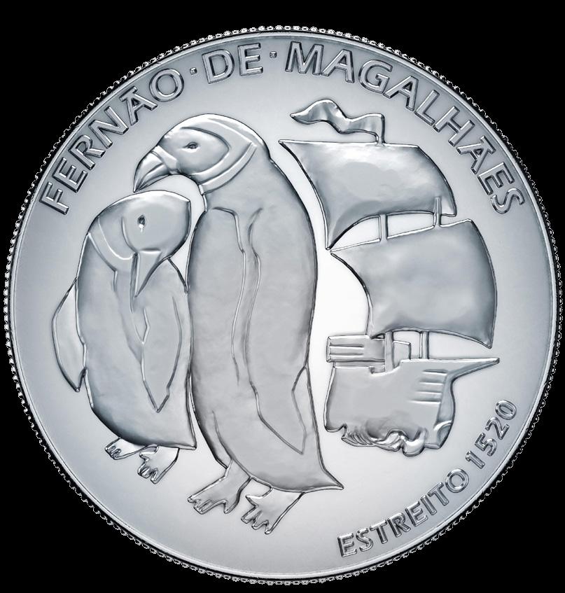 Португалия монета 7,5 евро 500 лет кругосветки Фернана Магеллана, реверс