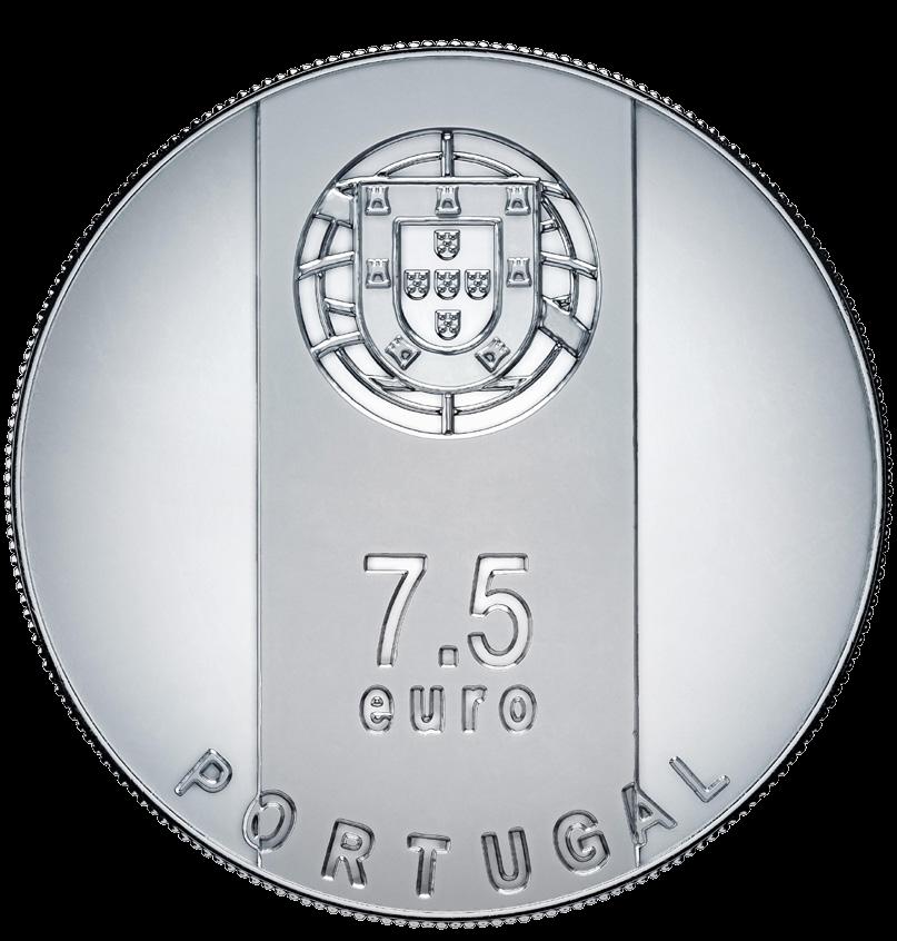 Португалия монета 7,5 евро Гонсалу Бирн, аверс
