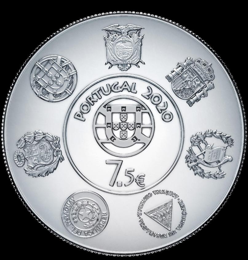 Португалия монета 7,5 евро Линия Туа, аверс