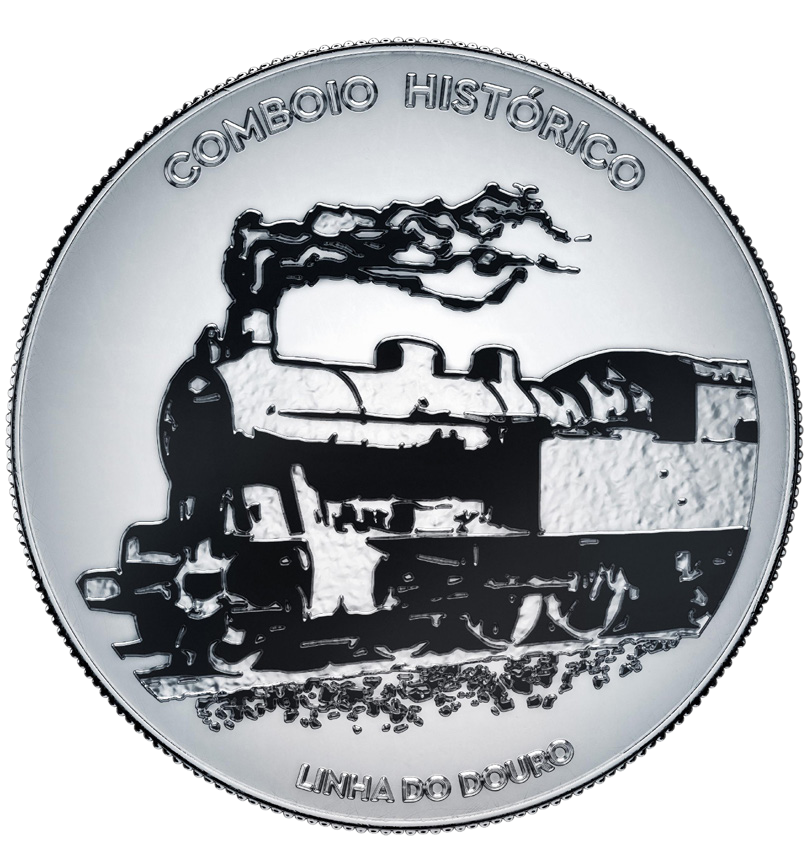 Португалия монета 7,5 евро Линия Туа, реверсПортугалия монета 7,5 евро Линия Туа, реверс