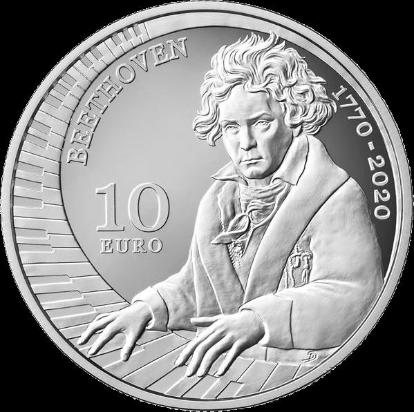 Сан-Марино монета 10 евро Людвиг ван Бетховен, реверс