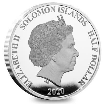 Соломоновы острова монета пол доллара 50-я годовщина успешной миссии Аполлон-11, аверс