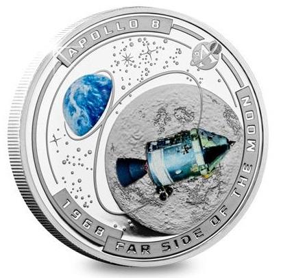 Соломоновы острова монета пол доллара 50-я годовщина успешной миссии Аполлон-11,реверс