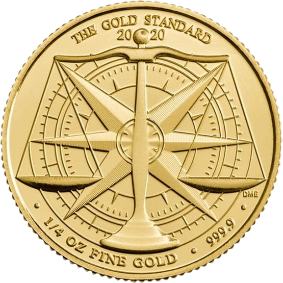 Великобритания монета 25 фунтов Золотой Стандарт, реверс