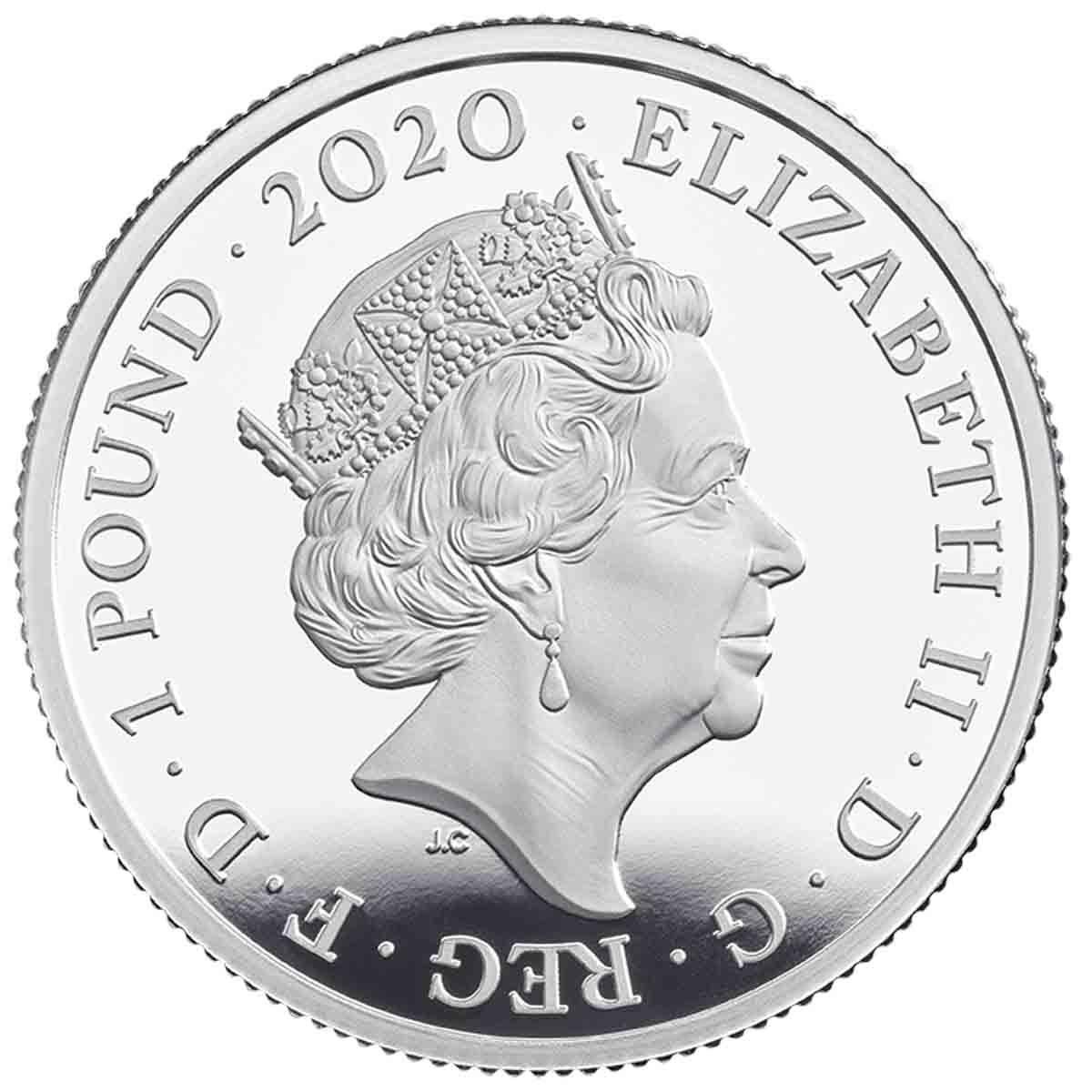 Британия монета 1 фунт Элтон Джон, аверс