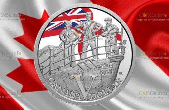 Канада монета 1 доллар Королевский флот Канады
